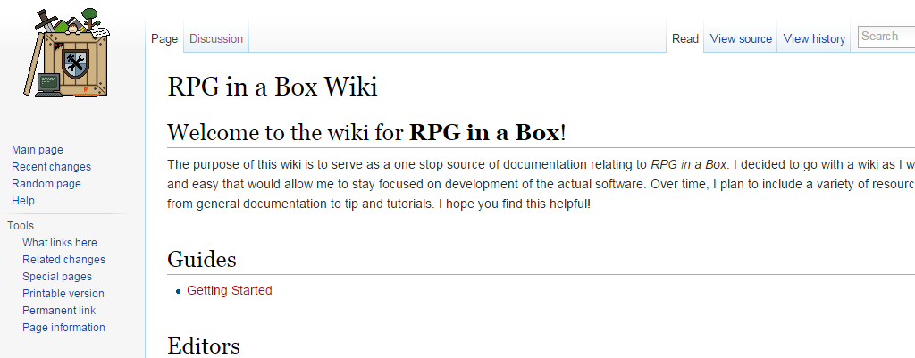 Documentation Wiki | RPG in a Box